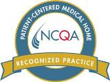 Blue and orange NCQA seal recognized practice